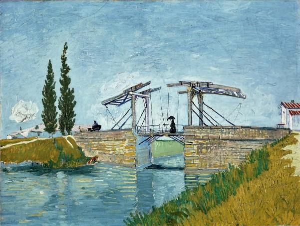 Gogh, Vincent van, Die Zugbrücke, Öl & Leinwand, 1888 (Köln, Wallraf-Richartz-Museum + Fondation Corboud, WRM 1197.  (Foto: © Rheinisches Bildarchiv Köln, Irouschek, Sonja, rba_d000216)