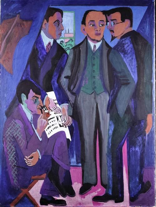 Kirchner, Ernst Ludwig, Eine Künstlergemeinschaft (Die Maler der Brücke), Öl & Leinwand (Foto: © Rheinisches Bildarchiv Köln, rba_d024733)