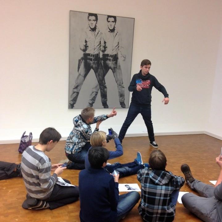 Auseinandersetzung mit Andy Warhol (Foto: KArin Rottmann, Museumsdienst Köln)