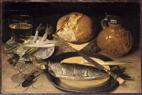 Flegel, Georg (1566), Stilleben mit einem Hirschkäfer, Öl & Lindenholz, 1635 (Köln, Wallraf-Richartz-Museum + Fondation Corboud, WRM 2824.  (Foto: © Rheinisches Bildarchiv Köln, Meier, Wolfgang F., rba_d000092)