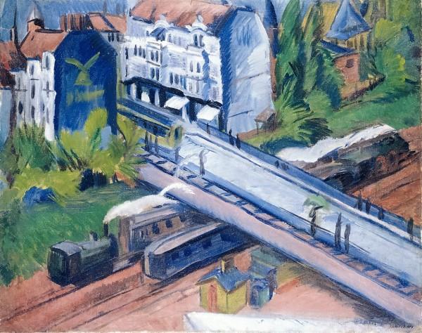 Kirchner, Ernst Ludwig, Die Eisenbahnüberführung, Öl & Leinwand, 1914 (Köln, Museum Ludwig, ML 76/3110.  (Foto: © Rheinisches Bildarchiv Köln, rba_c010738)