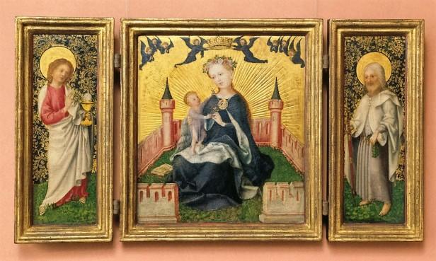 Lochner, Stefan, Triptychon / Klappaltärchen, Eichenholz, 1445/1450 (Köln, Wallraf-Richartz-Museum + Fondation Corboud, WRM 0070.  (Foto: © Rheinisches Bildarchiv Köln, Mennicken, Marion, rba_c018366)