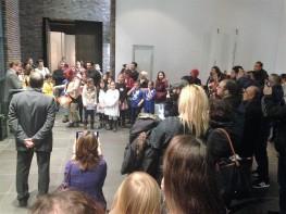 Eröffnungsreden (Foto: Morten Bierganns, Museumsdienst Köln)