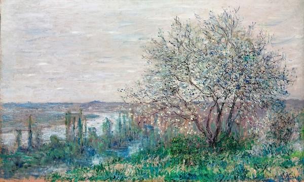 Monet, Claude Oscar, Frühlingsstimmung, oberhalb von Vétheuil, Öl : Leinwand, 1880 (Köln, Wallraf-Richartz-Museum + Fondation Corboud, WRM 3620.  (Foto: © Rheinisches Bildarchiv Köln, Albers, Michael, rba_d023670)