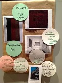 """Open Space zu """"Museum Textil"""". Diskussion über Fahnen und Banner im Kölnischen Stadtmuseum Ergebnisse der Arbeitsgruppen (Foto: Museumsdienst Köln)"""