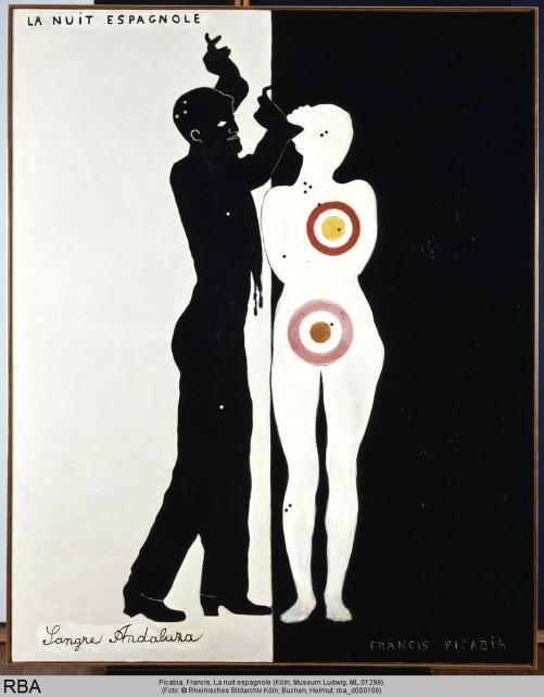 Picabia, Francis, La nuit espagnole, Ripolin & Leinwand, 1922 (Köln, Museum Ludwig, ML 01299.  (Foto: © Rheinisches Bildarchiv Köln, Buchen, Helmut, rba_d000106)