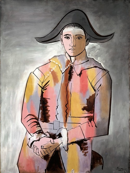 Picasso, Pablo, Arlequin, les mains croisées, Öl & Leinwand, 1923 (Köln, Museum Ludwig, ML 01434.  (Foto: © Rheinisches Bildarchiv Köln, rba_c010780)