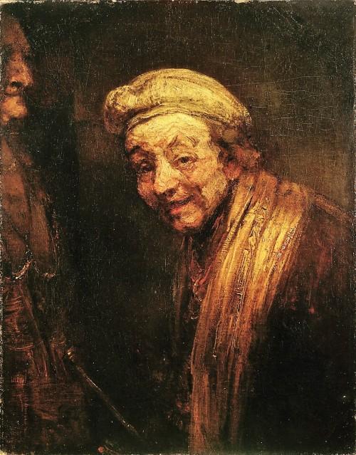 Rembrandt (Harmensz van Rijn), Selbstbildnis, Öl & Leinwand, um 1668 (Köln, Wallraf-Richartz-Museum + Fondation Corboud, WRM 2526.  (Foto: © Rheinisches Bildarchiv Köln, rba_c005675)