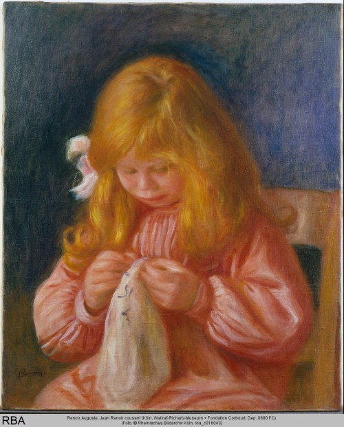 Renoir, Auguste, Jean Renoir cousant, Öl & Leinwand, 1898 (Köln, Wallraf-Richartz-Museum + Fondation Corboud, Dep. 0680 FC.  (Foto: © Rheinisches Bildarchiv Köln, rba_c016043)