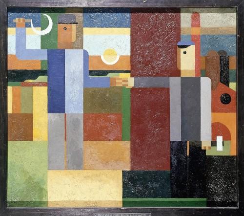 Seiwert, Franz Wilhelm, Stadt und Land, Öl & Sperrholz, 1932 (Köln, Museum Ludwig, ML 76/2996.  (Foto: © Rheinisches Bildarchiv Köln, rba_c000507)
