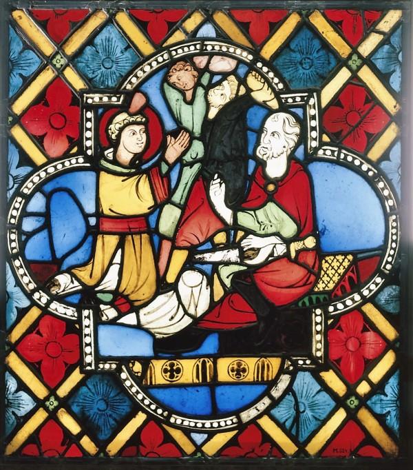 Steinigung des heiligen Stephanus, Köln, um 1280 (Köln, Museum Schnütgen, M 524.  (Foto: © Rheinisches Bildarchiv Köln, rba_c001462)