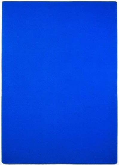 Klein, Yves, Monochrome bleu: IKB 73, Pigment & Kunstharz & Nessel : Sperrholz, 1961 (Köln, Museum Ludwig, ML 01071.  (Foto: © Rheinisches Bildarchiv Köln, Irouschek, Sonja, rba_d002502)