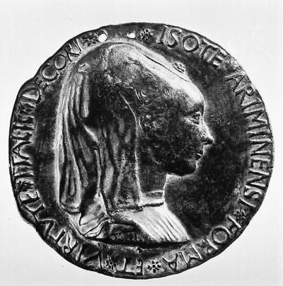 Isotta von Rimini, Metall, 1446 (Köln, Museum für Angewandte Kunst Köln, H 741.  (Foto: © Rheinisches Bildarchiv Köln, rba_mf101286)