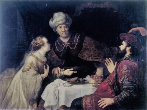 Victors, Jan, Esther und Haman vor Ahasver, Öl & Leinwand, um 1640 (Köln, Wallraf-Richartz-Museum + Fondation Corboud, WRM 1016.  (Foto: © Rheinisches Bildarchiv Köln, rba_c004894)