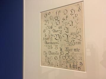 Peter Behrens' Schriftproben für eine Fraktur-Schrift, 1907