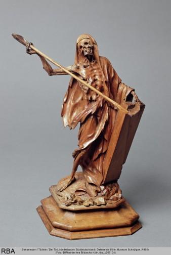 Sensemann / Tödlein / Der Tod, Holz / Weichholz, Niederlande / Süddeutschland / Österreich, 1686/1700 / um 1700 / 1701/1800 (Köln, Museum Schnütgen, A 995.  (Foto: © Rheinisches Bildarchiv Köln, rba_c007124)